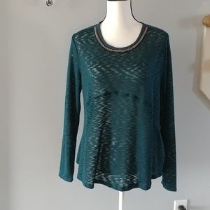 NWT Maurice's Embellished Sweater L